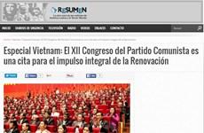 Prensa argentina resalta importancia del Congreso del PCV