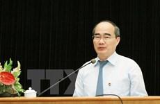 Dirigente del Frente de Patria felicita a dignatario religioso por Tet