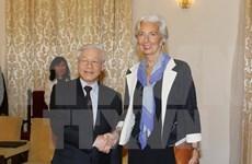 Máximo líder partidista de Vietnam recibe a directora general de FMI
