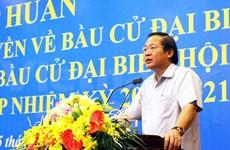 Ministro vietnamita enfatiza importancia de labores de divulgación de elecciones