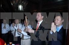 Presidente vietnamita inaugura Festival tradicional de Truong Yen