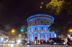 Luces encienden centenaria torre de agua en Hanoi, gracias a apoyo holandés