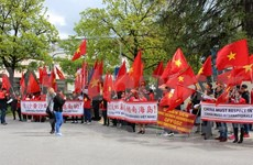 Protestan en Alemania contra acciones de China en Mar del Este