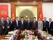Empresas extranjeras estudian ambiente de negocios en Thanh Hoa