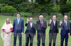 Premier vietnamita se reúne con líderes mundiales en Cumbre ampliada de G7
