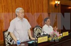 Líder partidista vietnamita recibe delegación del Partido de Trabajadores de Corea