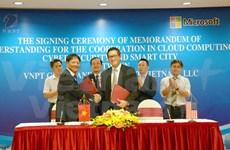 Grupo vietnamita y Microsoft firman acuerdo de cooperación estratégica