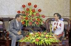 Ciudad Ho Chi Minh y Vientiane fortalecen cooperación entre organizaciones de masas