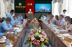 Provincias de Vietnam y Laos incrementan cooperación sindical