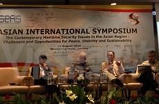 Cuestiones de seguridad marítima de Asia bajo lupa de expertos internacionales