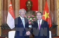 Presidente de Vietnam recaba inversión de Singapur