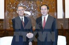 Presidente de Vietnam recibe al embajador de Marruecos