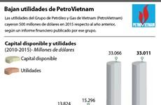 [Infografía] Bajan utilidades de Grupo de Petróleo y Gas de Vietnam