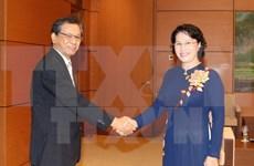 Presidenta del Parlamento de Vietnam recibe a saliente embajador de Japón