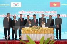 Foro empresarial promueve comercio entre ciudades vietnamita y sudcoreana