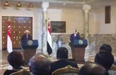 Singapur y Egipto impulsan cooperación comercial