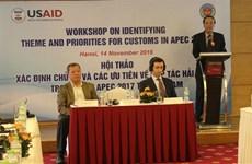 Prepara sector aduanero de Vietnam para APEC 2017