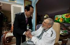 Presidente de Vietnam se reúne con Fidel Castro