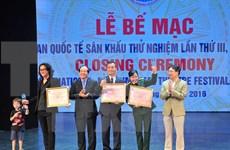 Clausuran Festival Internacional de Teatro Experimental en Vietnam
