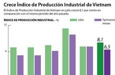 [Infografía] Crece Índice de Producción Industrial de Vietnam