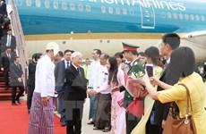 Máximo dirigente partidista de Vietnam visita Myanmar