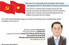 Tran Cam Tu, nuevo jefe de la Comisión de Control Disciplinario del CC del PCV