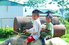 (Foto) Sonrisa de niños residentes en zonas montañosas vietnamitas