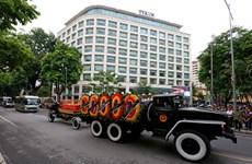 (Fotos) Trasladan féretro del presidente Tran Dai Quang hacia su provincia natal