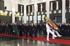 [Fotos] Vietnam rinde homenaje a  Do Muoi, exsecretario general del Partido Comunista de Vietnam