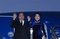 [Foto] Premier vietnamita llega a Tokio para su participación en la décima Cumbre Mekong- Japón