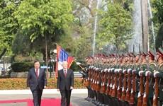 [Fotos] Realiza máximo dirigente vietnamita visita ofificial a Laos