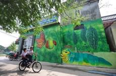 (Televisión) Atractiva aldea de pinturas murales de Chu Xa en Hanoi