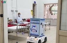 (Televisión) Vietnam promueve uso de robots en el tratamiento de COVID-19