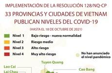 33 localidades vietnamitas publican niveles del COVID-19