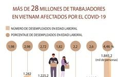 Más de 28 millones de trabajadores en Vietnam afectados por el COVID-19