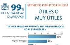 99 por ciento de empresas califican servicios públicos en línea útiles o muy útiles