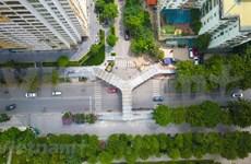 Inauguran puente elevado con forma de letra Y, el más hermoso en Hanoi