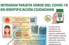 Integran tarjeta verde del COVID-19 en identificación ciudadana