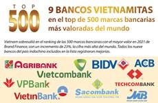 Nueve instituciones vietnamitas en top 500 marcas bancarias más valoradas del mundo