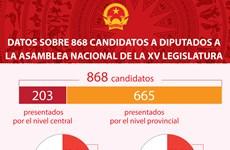 Datos sobre 868 candidatos a diputados a la Asamblea Nacional de la XV legislatura