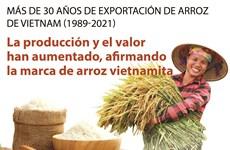 Más de 30 años de exportación de arroz de Vietnam (1989-2021)