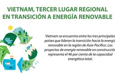 Vietnam, tercer lugar regional en transición a energía renovable