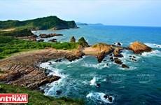 Mar y cielo de la isla vietnamita de Co To