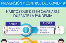 Hábitos que deben cambiarse durante la pandemia