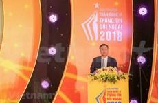 [Foto] Entregan en Vietnam los premios de información al exterior