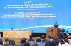 [Fotos] Firman Acuerdos de Libre Comercio y de Protección de la Inversión entre Vietnam y UE