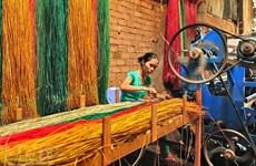 (Televisión) Promueve Vietnam oficio de elaboración de esteras tejidas Long Dinh