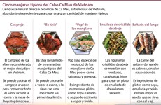 Cinco manjares típicos del Cabo Ca Mau de Vietnam