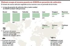 Vietnam ocupa el noveno puesto en ASEAN en posesión de vehículos