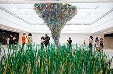 (Video) Exposición sobre residuos plásticos eleva conciencia sobre el medio ambiente